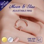 Moon & Star Adjustable Ring (BUY 1 GET 1 FREE)
