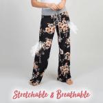 Wide-Leg Drawstring Floral Pants