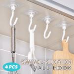 Swivel Suction Wall Hook (Set of 4)