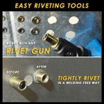 Rivet Gun Head & Nutsert Caps