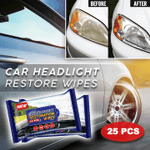 Car Headlight Restoration Wipes (25 PCS)