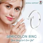 Semicolon Ring Depression Awareness