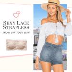 SuperFit Sexy Lace Strapless Bra