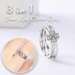3-in-1 Elegant Four Leaf Clover Ring