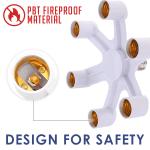 Bulb Adapter Light Socket Splitter