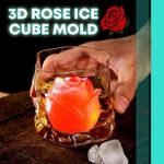 3D Rose Ice Cube Mold Home DearSnowdrop