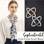 Sophisticated Criss Cross Scarf Ring