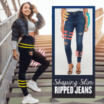 Shaping Slim Ripped Jeans