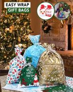 Easy Wrap Gift Bags (15pcs/ 30pcs) Home ModerateRose Package A - 30 PCS ( Random Pattern in 4 size)