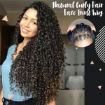 Natural Curly Hair Lace Front Wig