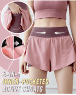 2-in-1 Inner-Pocketed Active Shorts