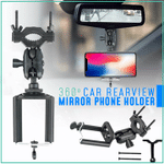 360° Car Rearview Mirror Phone Holder