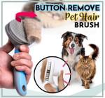 Button Remove Pet Hair Brush