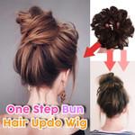 One Step Hair Updo Bun Wig