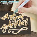 Artistic Double Line Lettering Pen