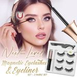 Next-Level Magnetic Eyelashes and Eyeliner Set - 3 Pairs Set