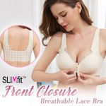 Front Closure Breathable Lace Bra
