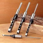 "Woodwork Square Hole Drill Bits (1/4""; 5/16""; 3/8""; 1/2"")"