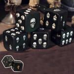 Handmade Novelty Black Skull Dice (Set of 5)
