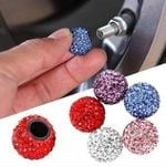 Rhinestone Tire Valve Universal Caps (4 Pieces Set)