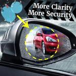 Rainproof, Anti-glare Film for Car Window / Mirror (Pack of 2 Films)