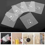 Reusable Transparent Hooks (10 Pieces)