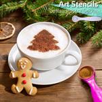 Art Stencils Coffee Pastry Spoon