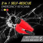 2 in 1 Self-rescue Emergency Keychain