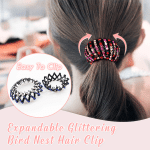 Expandable Glittering Bird Nest Hair Clips
