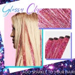 Sparkle Hair Tinsel Extension Clips