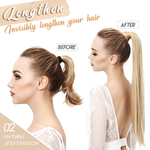 Wrap-on Hair Extension Ponytail