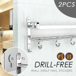 Drill-free Adhesive Wall Shelf Nails (2PCS)