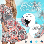 Floral Tunic Dress With Pockets