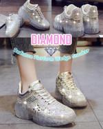 Diamond Radiance Platform Wedge Sneaker - LimeTrifle