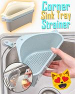 Triangular Corner Sink Tray Strainer - LimeTrifle