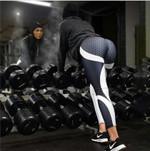 Anti-Cellulite Mesh Pattern Leggings - LimeTrifle