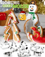 3D Christmas Cookies Molder Set - LimeTrifle