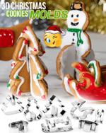 3D Christmas Cookies Molder Set