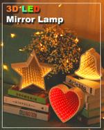 3D LED Mirror Lamp - LimeTrifle
