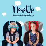 Nap-Up Child Car Seat Head Support - LimeTrifle
