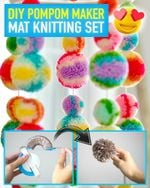 DIY PomPom Maker Mat Knitting Set - LimeTrifle