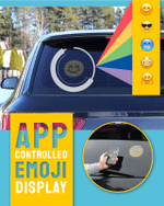App-Controlled Emoji Car Display - LimeTrifle