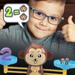 Monkey Balance Scale Math Game - LimeTrifle
