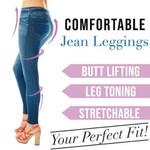 Super Stretchy Slimming Jean Leggings - LimeTrifle