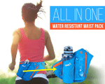 All in One Water Resistant Waist Pack - LimeTrifle