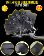 Waterproof Black Diamond Playing Cards - LimeTrifle