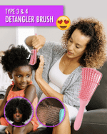 Type 3 & Type 4 Hair Detangler Brush - LimeTrifle