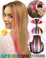 Clip-in Colored Hair Extensions - LimeTrifle