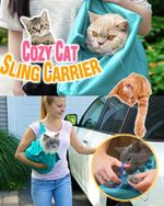 Cozy Cat Sling Carrier - LimeTrifle