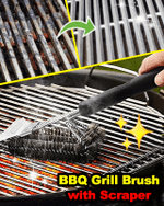 BBQ Grill Brush with Scraper - LimeTrifle